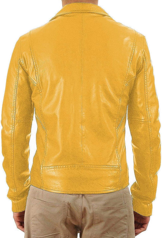 Lasumisura Mens Black Genuine Lambskin Leather Jacket 1510325