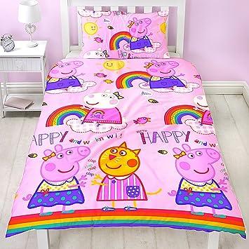 Kinder Bettwäsche Peppa Wutz Pig Mikrofaser 2 Tlg Garnitur Für