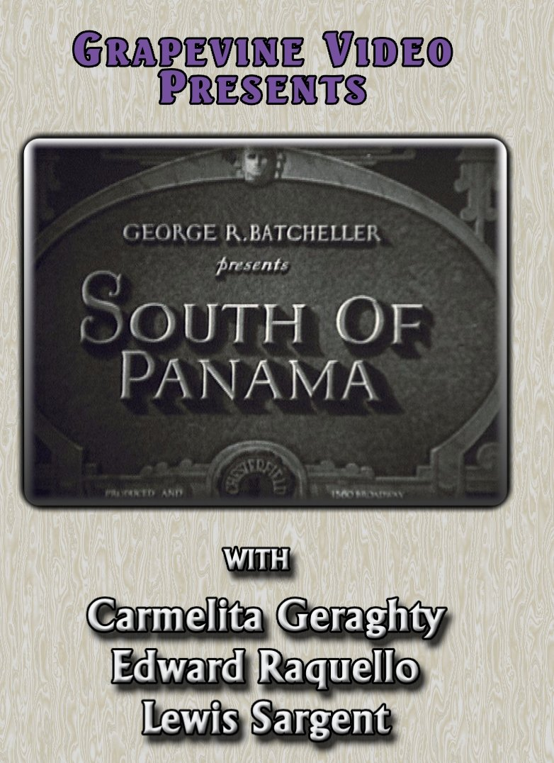 DVD : South Of Panama (Black & White, Silent Movie)