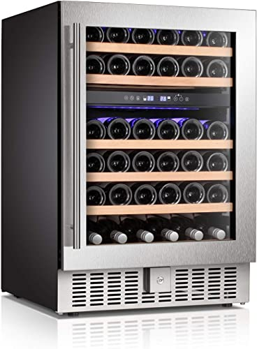 "Antarctic-Star-24""-Dual-Zone-Wine-Cooler-Beverage-Refrigerator"