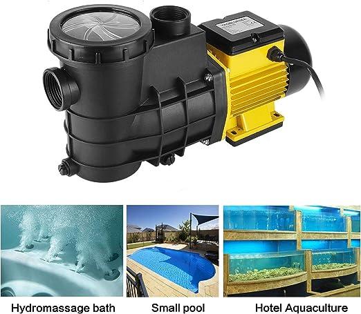 YAOBLUESEA Pompa per Piscina Pompa di circolazione Pompa per Piscina Filtro 5000L h per la circolazione e la filtrazione