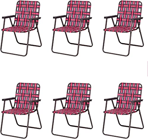 GYMAX Patio Folding Chair Set