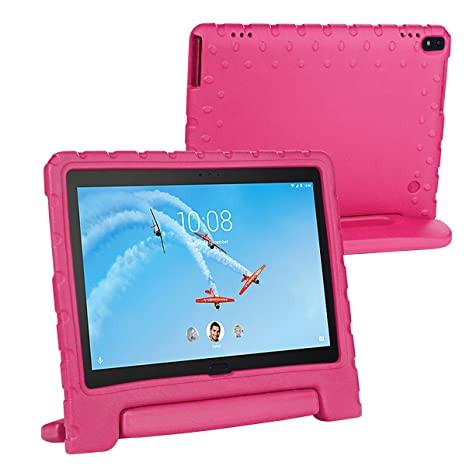 free shipping b08b0 4370f i-original Compatible Shock Proof Lenovo Tab 4 10/10 Plus EVA Case for Kids  Bumper Cover Handle Stand, EVA Convertible Handle Light Weight EVA ...