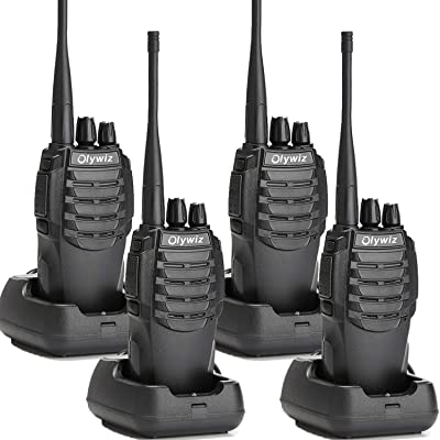 Olywiz Walkie Talkie Two-Way Radios Rechargeable Long Range Up to 6 Miles 16CH UHF406-470Mhz 1800mAH Battery(Ultra-Long Standby) Loud&Clear 2 Way Radio 4Pack HTD826: Electronics