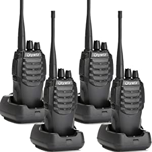 Olywiz Walkie Talkie Two-Way Radios Rechargeable Long Range Up to 6 Miles 16CH UHF406-470Mhz 1800mAH Battery(Ultra-Long Standby) Loud&Clear 2 Way Radio 4Pack HTD826