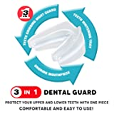 ANBOW Night Mouth Guard for Grinding Teeth - Custom Fit Dental Mouthpiece Eliminates TMJ,Bruxism,Clenching,Snoring, Pack of 2