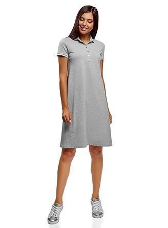 cc3a7b12e oodji Collection Women s Pique Polo Dress  Amazon.co.uk  Clothing
