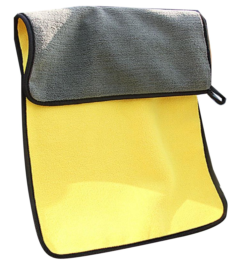 Zimaes Superfine Fiber Chenille Safely and Easily Thick Lint-Free Absorbent Auto Cloth Yellow OS