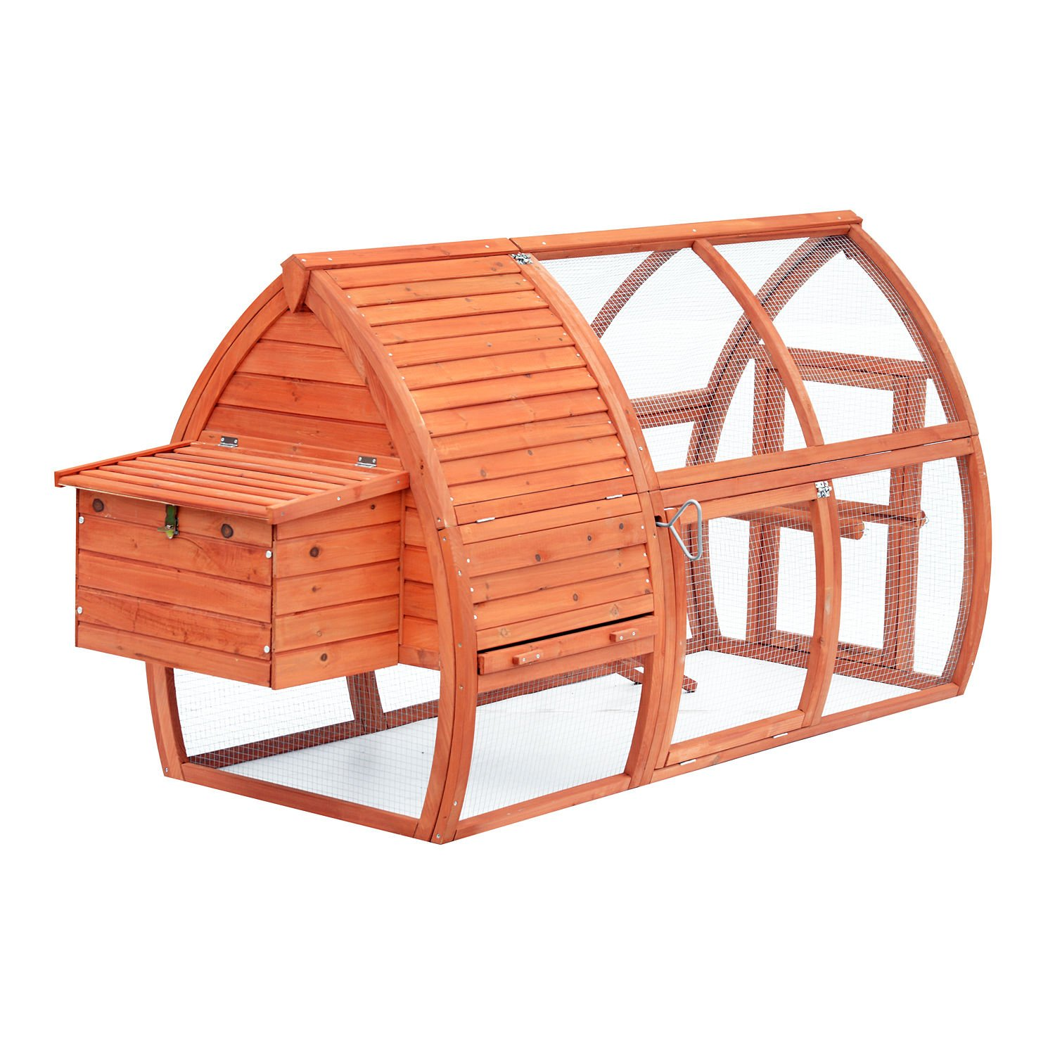 Eight24hours 82'' Deluxe Wood Chicken Coop Cage Large Nesting Box Run Pet House Poultry