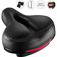 Roguoo Bike Seat, Most Comfortable Bicycle Seat Dual Shock Absorbing Memory Foam Waterproof Bicycle Saddle Bike Seat…