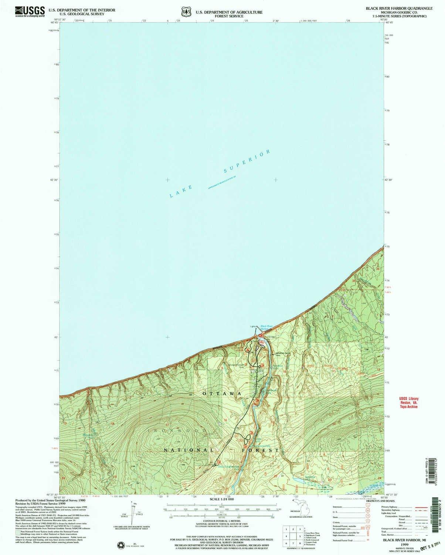 Amazon Com Yellowmaps Black River Harbor Mi Topo Map 1 24000