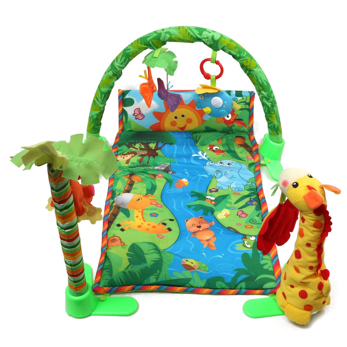 rainforest musical baby infant activity gym floor crawl play B07F5YWNS2