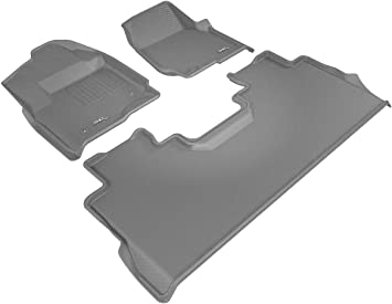 Amazon Com 3d Maxpider Complete Set Custom Fit All Weather Floor Mat For Ford F 250 350 450 Crew Cab Models Kagu Rubber Gray Automotive