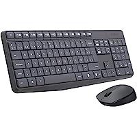 Logitech MK235 Combo Teclado y Ratón para Windows, 2.4 GHz con Receptor USB Unifying, Ratón Inalámbrico, 15 Teclas con…
