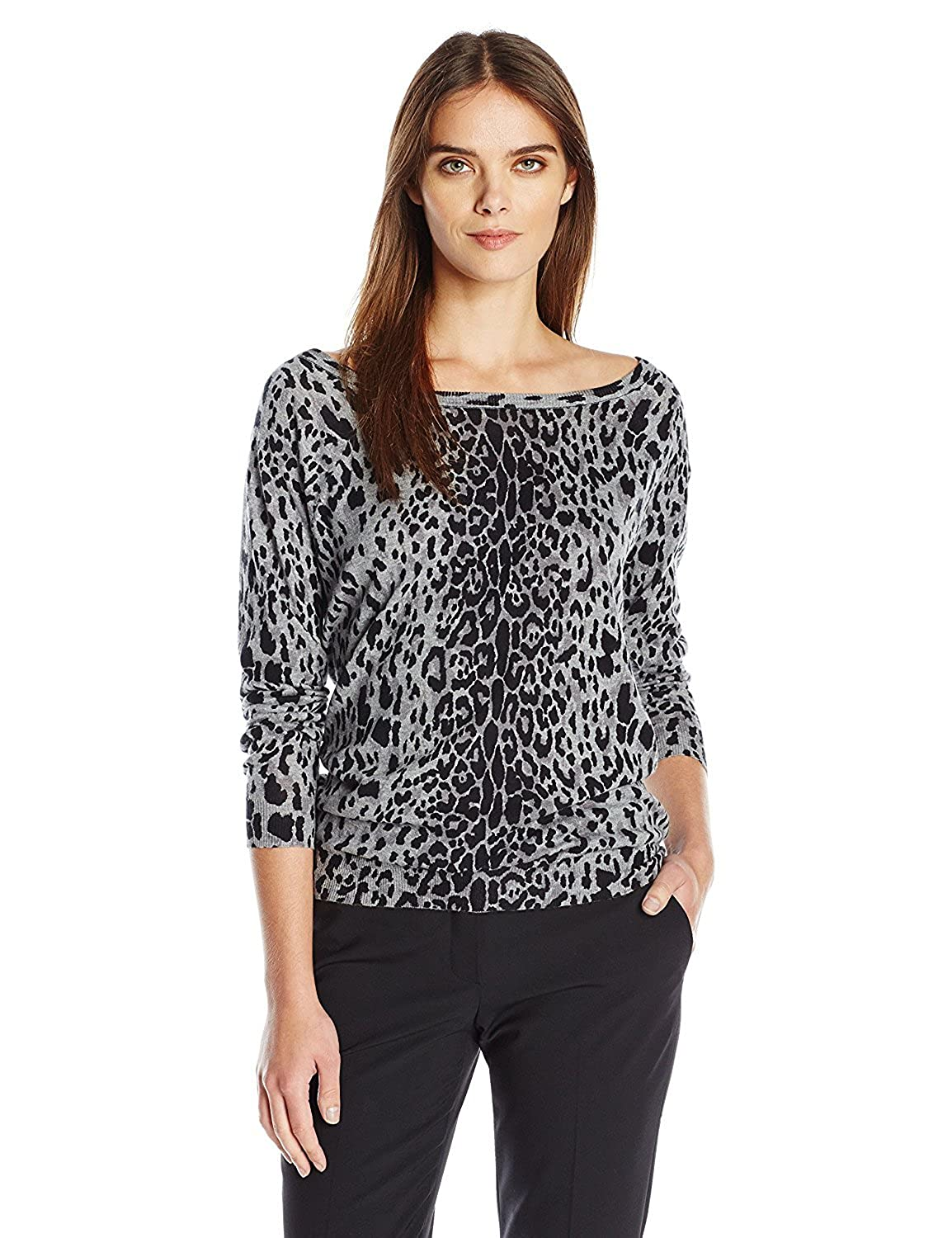 Tracy Reese Women's Pullover Charcoal Animal Small [並行輸入品] B075CJMNBS