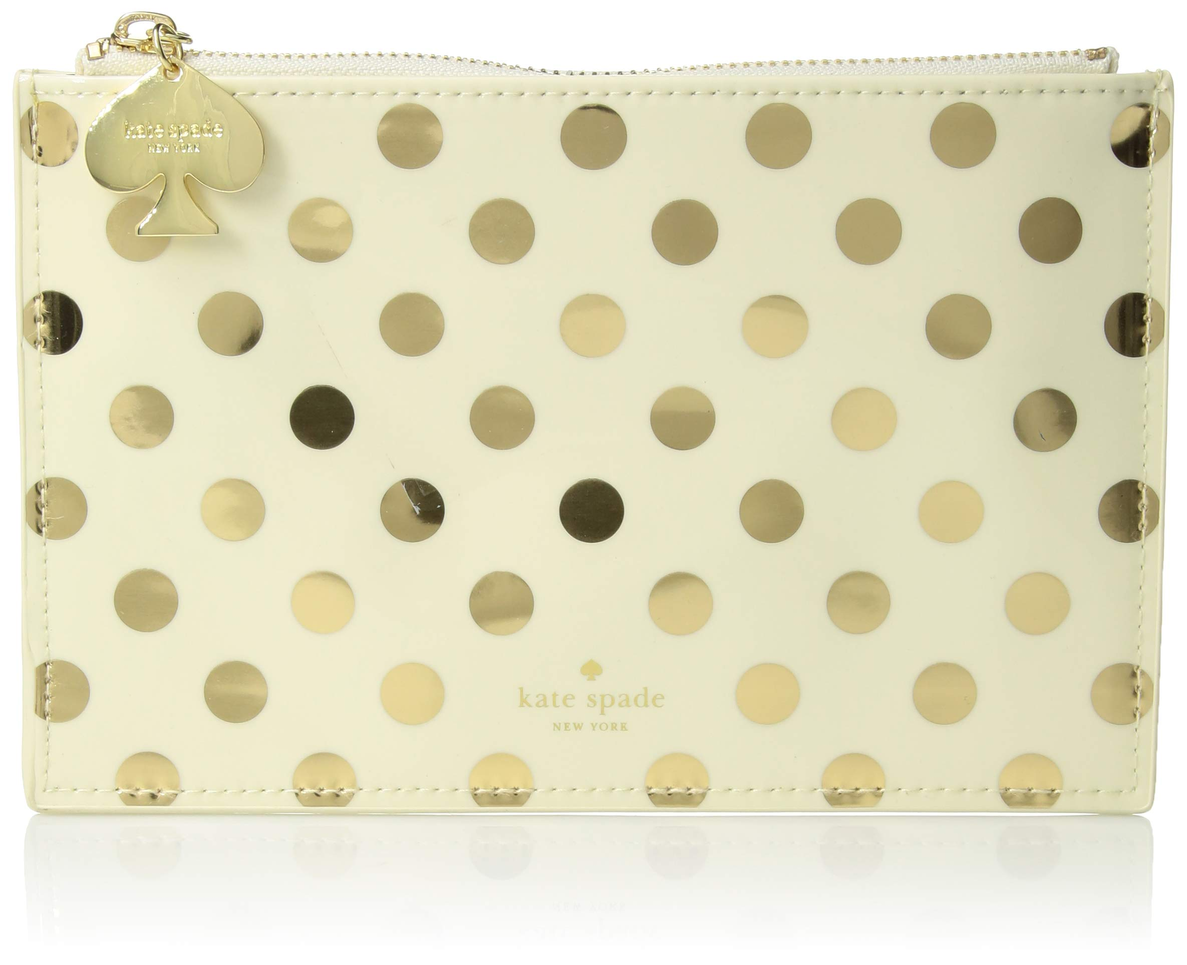 kate spade new york Pencil Pouch - Gold Dots by Kate Spade New York
