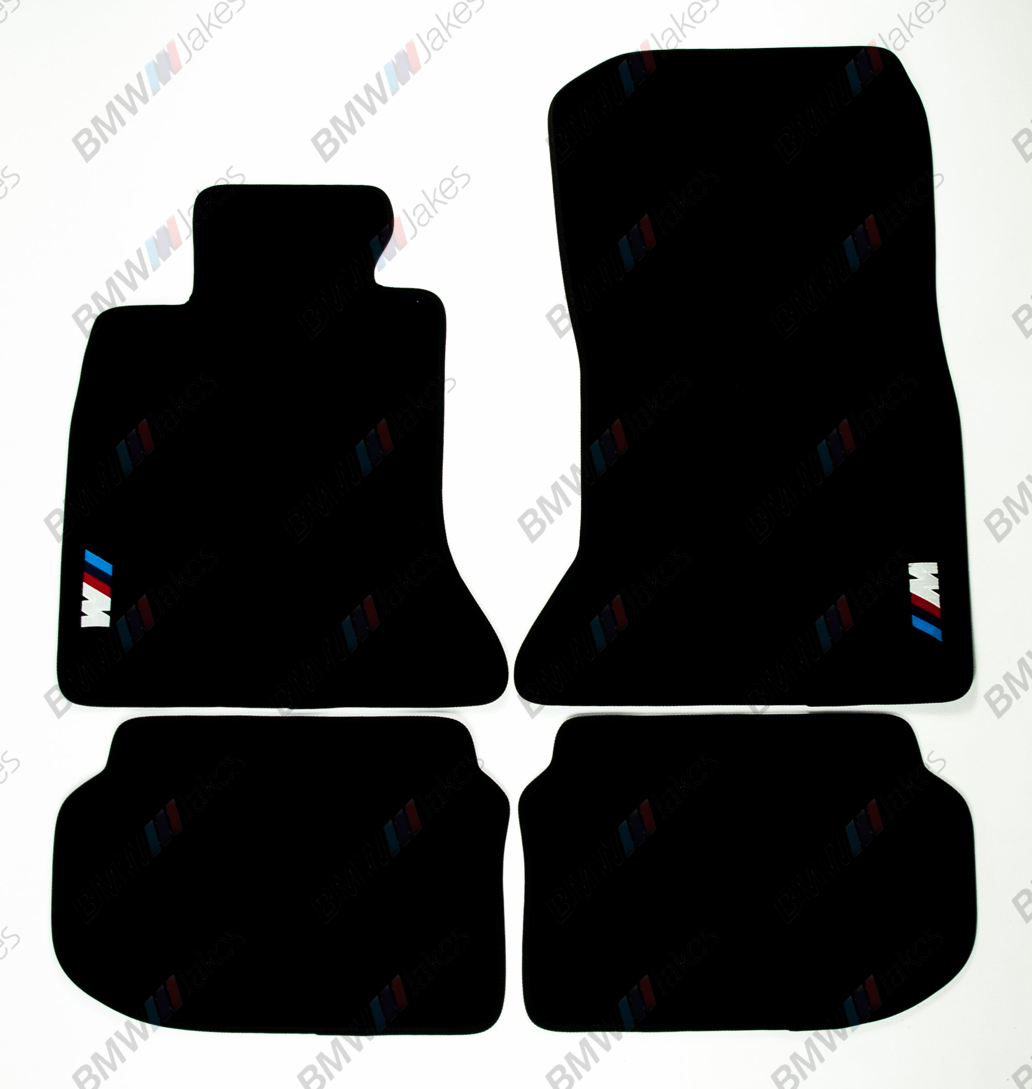 NEW CAR FLOOR MATS BLACK with ///M EMBLEM for BMW 5 series F10 2009, 2010, 2011, 2012, 2013, 2014, 2015, 2016