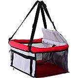 PawHut D1 0089 Pet Car Seat Cover Booster Basket Dog Puppy Cat Bag Carrier Travel