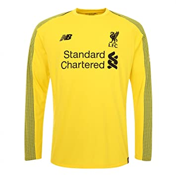b07d8bf40 New Balance Liverpool FC Collection 2018 2019 Home Kit Yellow Polyester  Long Sleeve Boys Soccer