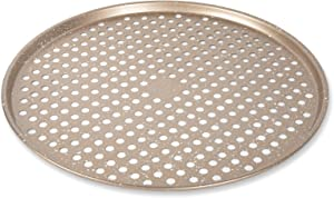 "Cook with Color Bakeware Non Stick Pizza Pan, Speckled 14"" Pizza Cooking Tray, Pizza Heating Pan, Crisper (Champagne)"