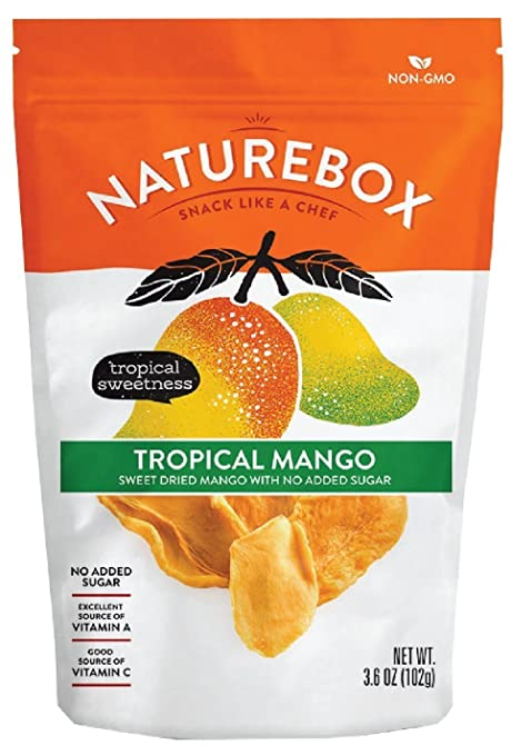 Amazon.com : NatureBox Tropical Sweet Dried Mango with No Added Sugar, 3.68 Ounce : Grocery & Gourmet Food