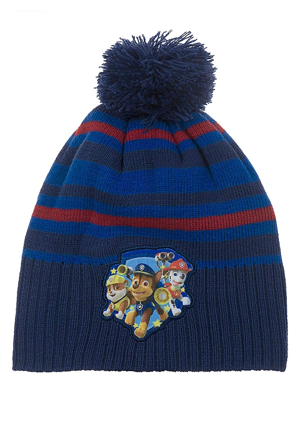 Nickelodeon Boys Charecter Paw Patrol Blue Stripe Winter Hat Age 1 to 5