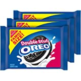 OREO Double Stuf Chocolate Sandwich Cookies, Family Size, 3 Packs, DELUXE SET