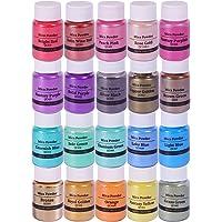 Mica Powder for Epoxy Resin Pigment Powder 20 Color Pigment Epoxy Resin Dye Cosmetic Grade Mica Powder Metallic Shimmer…