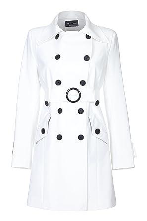 online store 53ee9 9e4ee De La Creme Damen Trenchcoat mit Gürtel: Amazon.de: Bekleidung