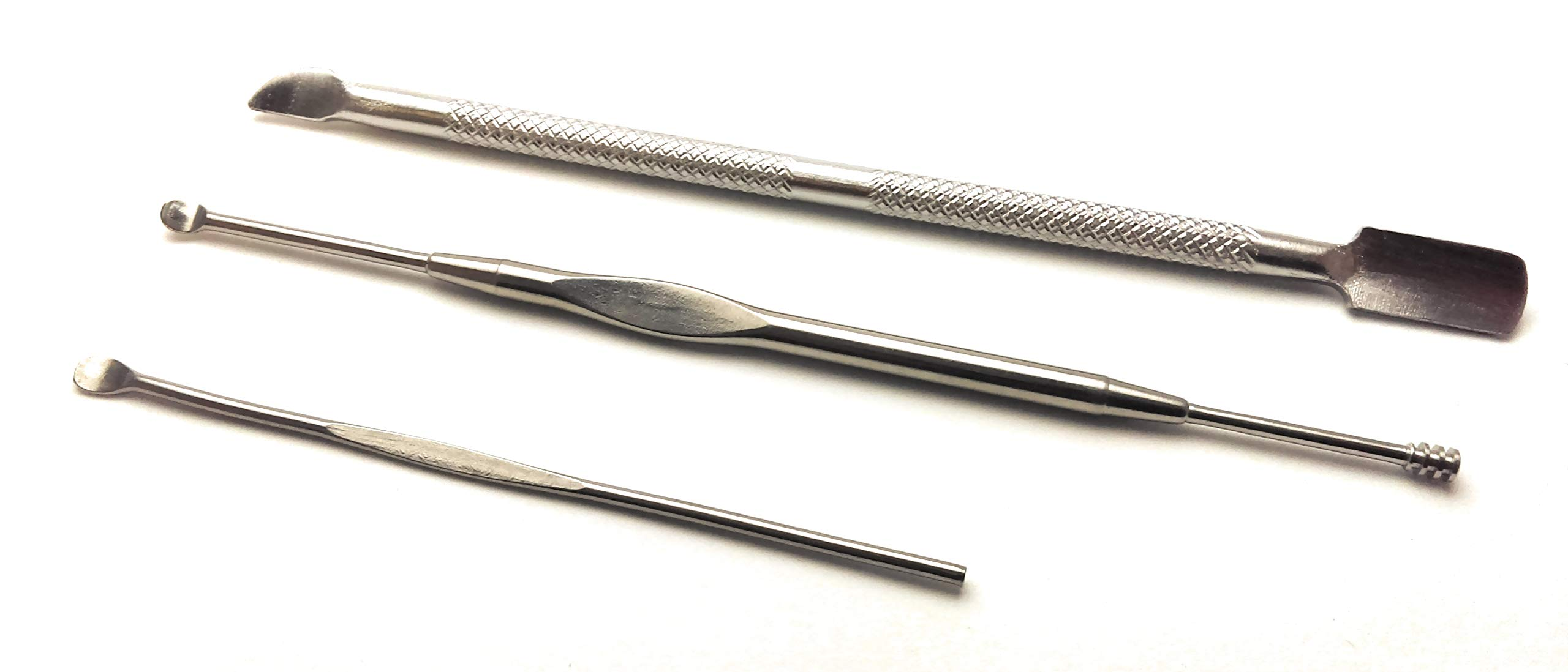 Vape Pipe Cleaning Tools 3 Different Types, Stainless Steel for Vape PAX & Kandy, Micro DX by King Van
