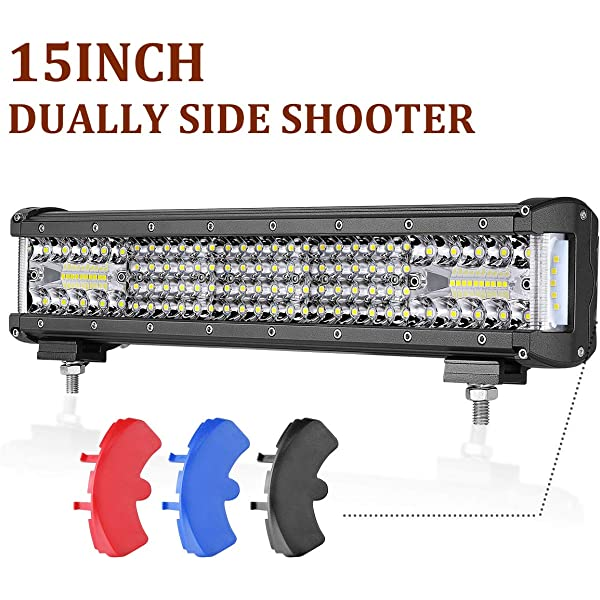 Amazon Com Led Light Bar 15 Inch Swatow 4x4 244w Side