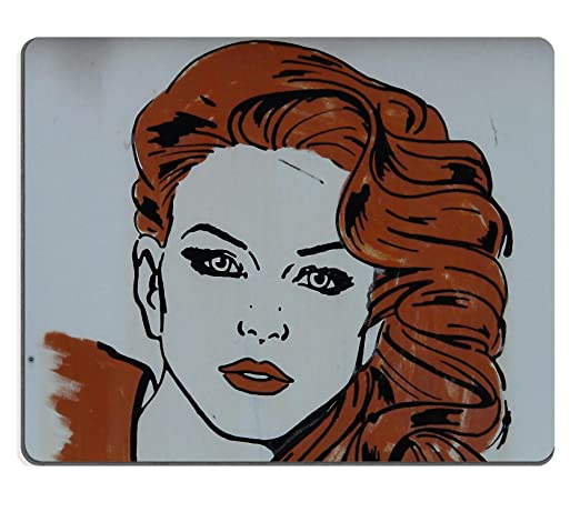 MSD Mousepad Free stock photo Woman Hairstyle Hair Styling Natural Rubber Material Image 7154