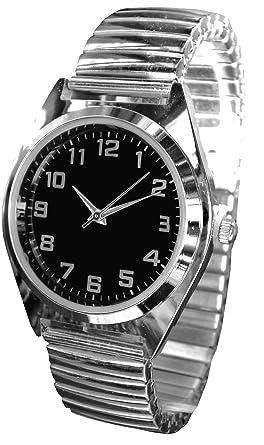 réduction jusqu'à 60% meilleure qualité pour promotion Montre Métal - Bracelet Extensible Élastique - Diam 3,3cm