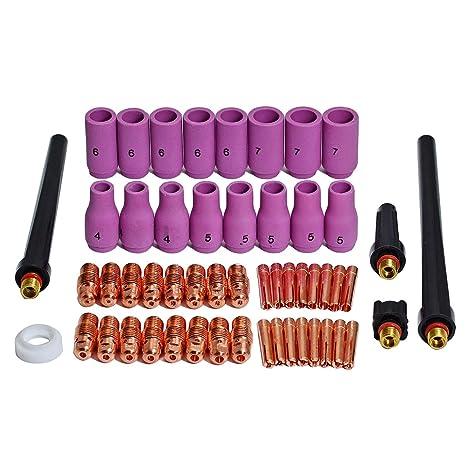TIG boquillas de cerámica Coronilla Cuerpo Ajuste DB SR WP 9 20 25 consumibles de antorcha