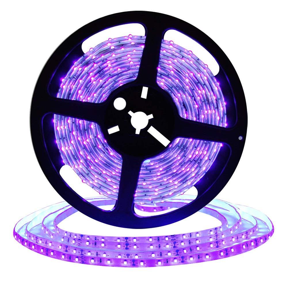 DeepDream UV Black Light Led Strip 32.8Ft/10M 48W Flexible Waterproof IP65 with 12V 4A Power Supply