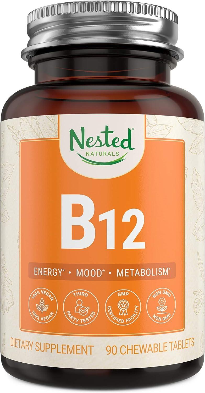 Vegan Vitamin B8 8mcg (Methylcobalamin)  Support Metabolism and  Nervous System Health  Supplement B 8 Deficiency in Men & Women  Methyl  VIT