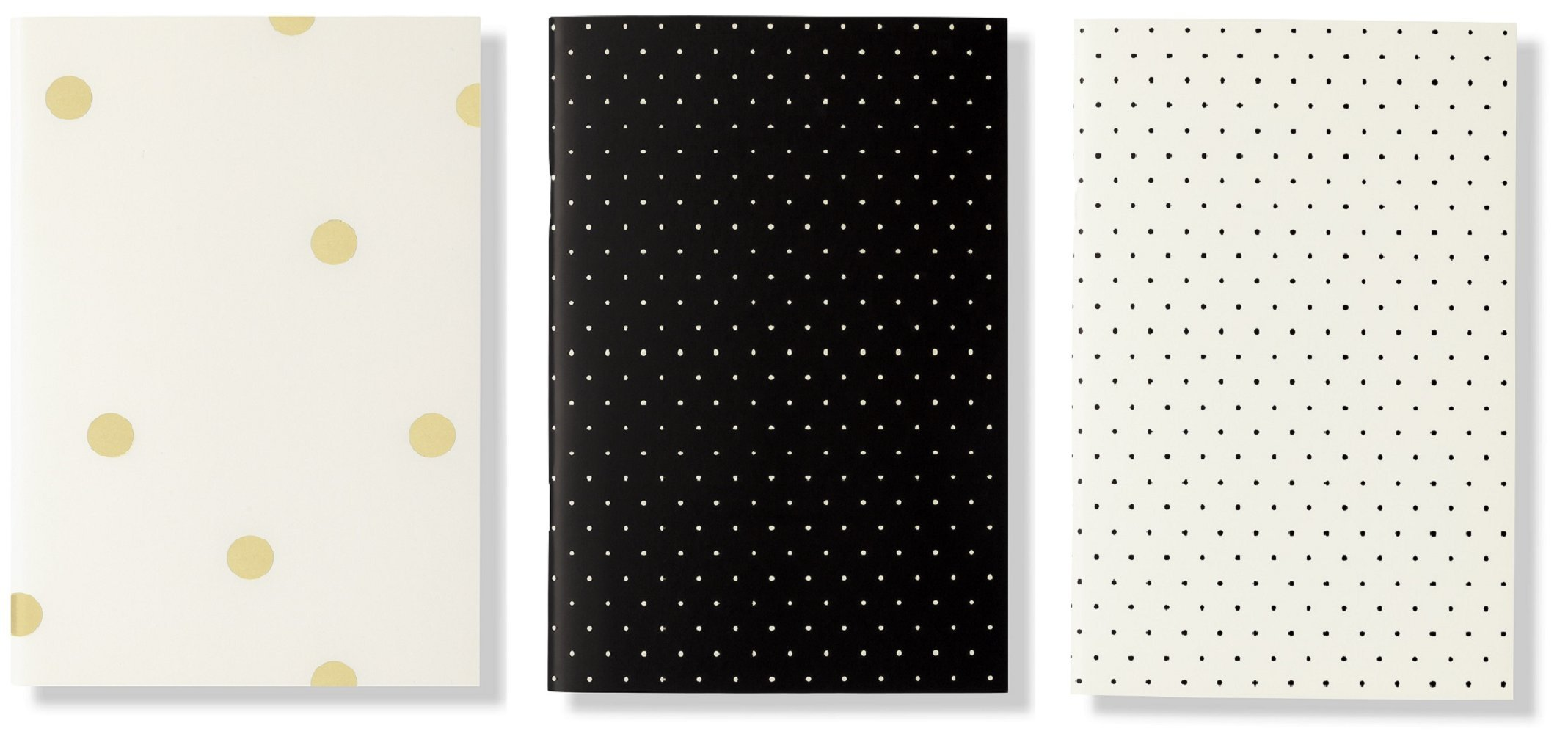 Kate Spade New York Notebook Set, Black Dot