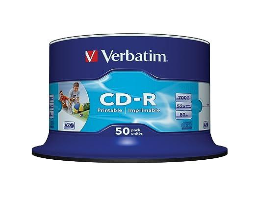 63 opinioni per Verbatim CD-R 80 700MB AZO WIDE- Confezione da 50