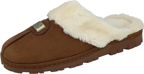 Jo/&Joe SLIPPERS Womens Girls Winter WARM Fur COMFY Soft Cosy Ladies SlipOn Flat