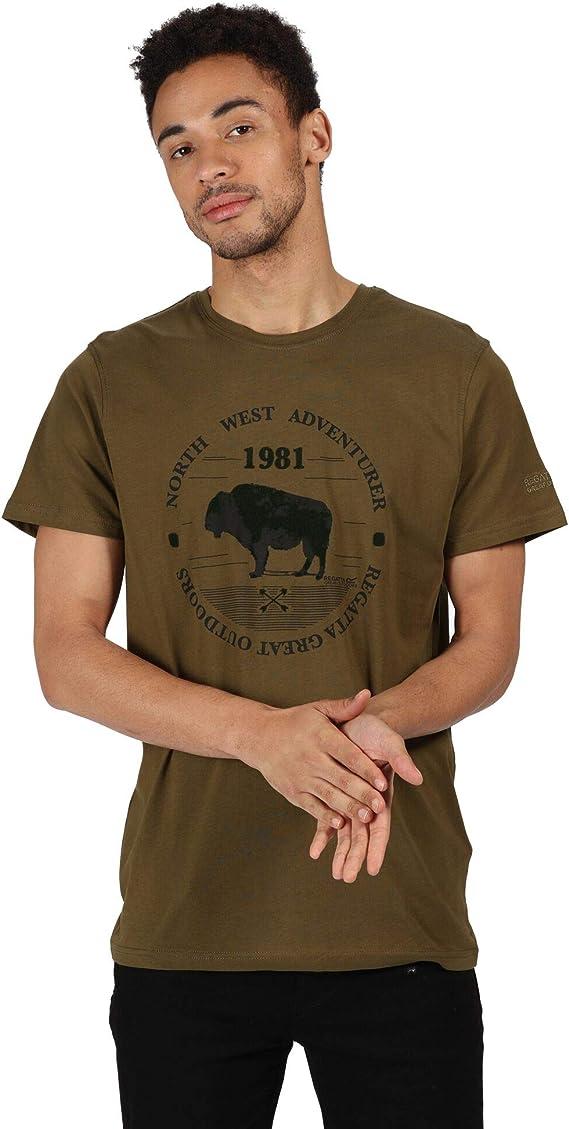 Regatta Mens Cline Iv Light Short Sleeve with Graphic Print T-Shirts//Polos//Vests