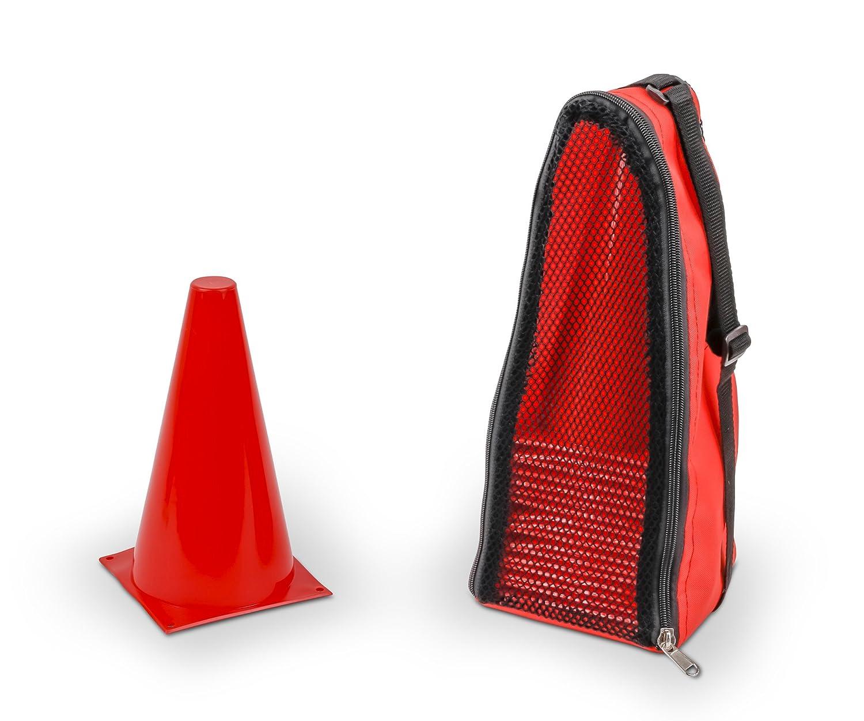 Vinex 20 Conos de se/ñalizaci/ón azul con bolsa de transporte