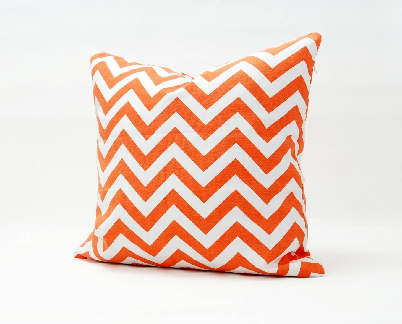 Sinoguo Home Decorative 16 18 20 Canvas Pillow Cover Case Orange White Zig Zag Printed Throw Pillows Cushion Case 18x18 Arts Crafts Sewing Amazon Com