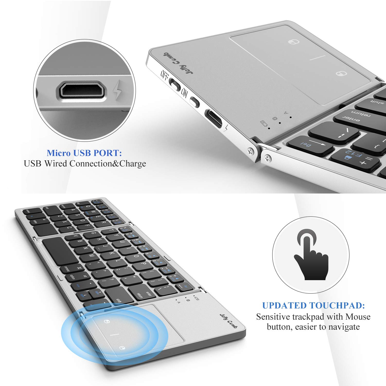 Amazon.com: Foldable Bluetooth Keyboard, Jelly Comb B003B Dual Mode ...