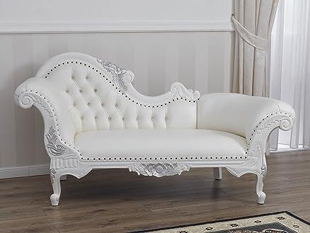 Divano dormeuse chaise longue stile Barocco Moderno bianco laccato ...