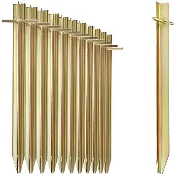 29,5cm 4x Zelt-Heringe aus Stahl Erdnägel mit T-Profil für Camping und Outdoor