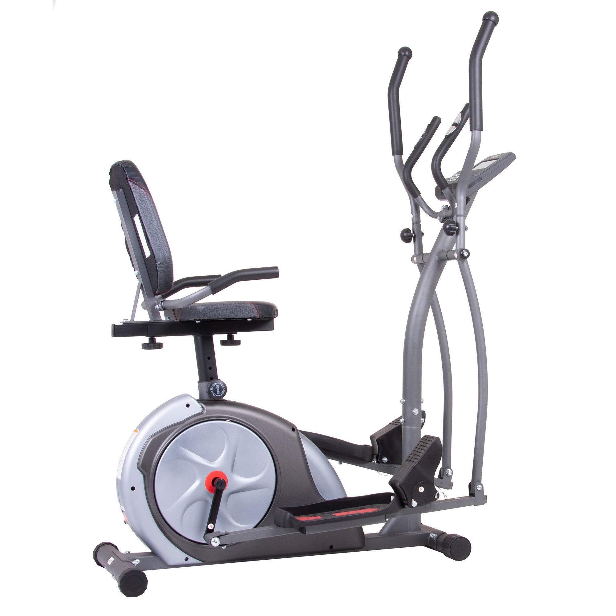 Body Rider BRT5800 3-in-1 Trio Trainer Workout Machine, Black/Gray/Silver/Red