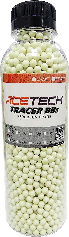 ACETECH Airsoft Gun Glow in Dark Tracer BBS Red/Green
