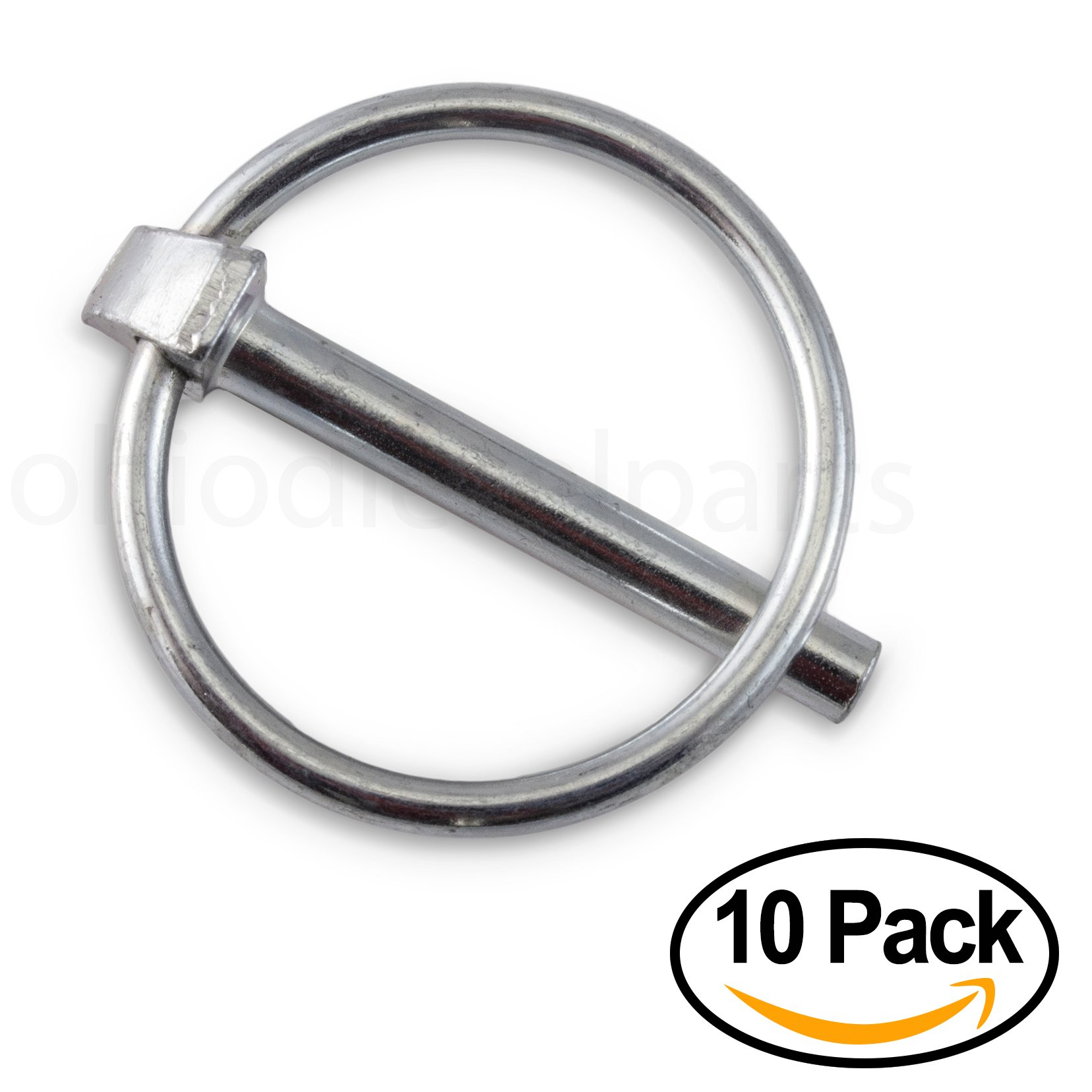 Linch Pin with Ring 3/16'' x 1-3/4 Inch (Pack of 10)