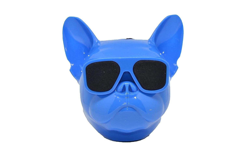 Altavoz portatil Cabeza Perro Bulldog Frances inalambrico Bluetooth, Tarjeta SD, Pendrive, FM Radio, mp3, Color Azul: Amazon.es: Electrónica