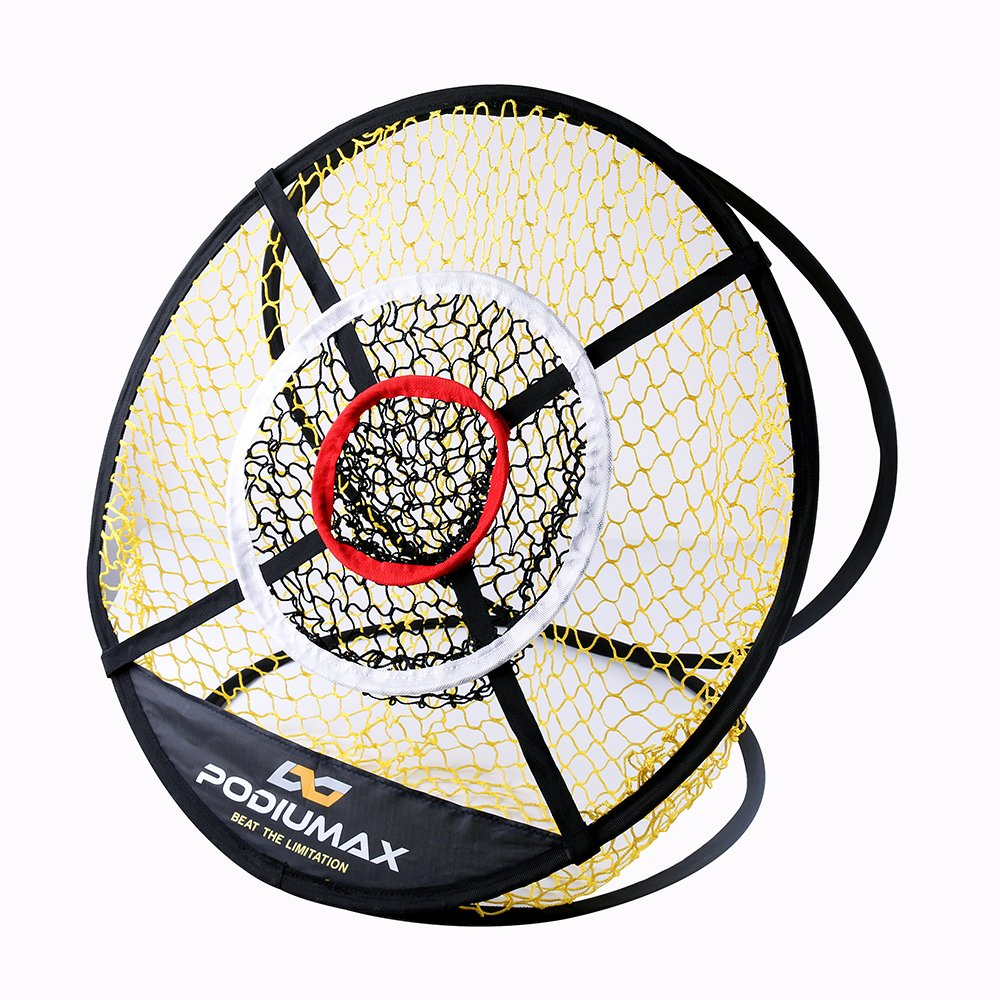 PodiuMax 24in Pop Up Golf Chipping Net, Indoor/Outdoor Collapsible Golfing Target Net for Accuracy and Swing Practice, Portable by PodiuMax